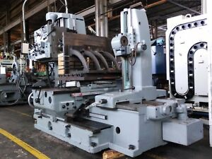 Horizontal Boring Mill 2 5 Tos W 3 axis Dros Power Rotary Table Outboard