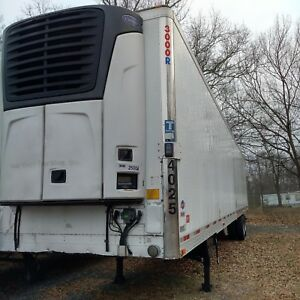 2010 Utility 53 Reefer Trailer W Carrier 2500a Unit 4025 Low Hours