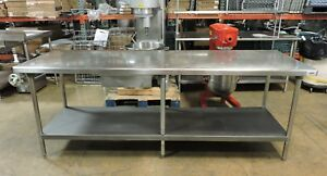 Commercial Stainless Steel Work Table With Drawer And Undershelf 96 X 30