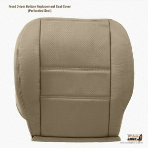 2003 2004 Driver Bottom Perforated Leather Seat Cover For Nissan Pathfinder Tan