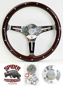 1969 1973 Chevelle El Camino Steering Wheel Ss 15 Dark Mahogany Wood