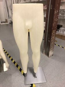 Male Leg Form Pant Form 44 Male W stainless Base Mannequin Free Ship