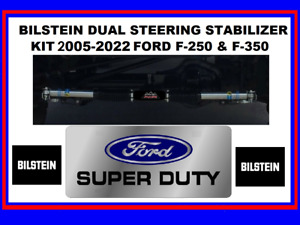 Bilstein 5100 Dual Steering Stabilizers For 05 20 Ford F 250 F 350 Super Duty