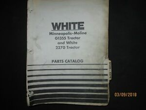 Oliver Minneapolis Moline G1355 Cockshutt 2270 White Tractor Parts Book Manual