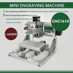 3 Axis Mini Engraving Machine Engraver Cnc Router 1610 Pcb Wood Plastic Pvc Mx