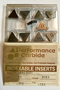 Performance Carbide Inserts Tpg322t Pcx3 375 125 Qty 10 New