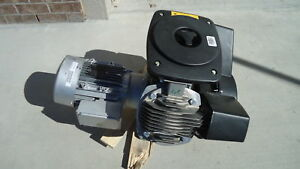 Atlas Copco Lf3 10s Lf3 10 3hp Oil Free Aluminum Piston Compressor Pump W Motor