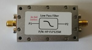 Rf Low Pass Filter Fc 125mhz Vhf 100w Cw Power