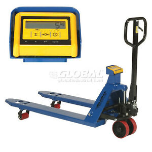 Pallet Jack Scale Truck With Weight Indicator 5500 Lb Capacity