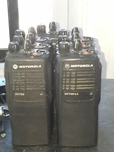 Motorola Ht750 Ls Uhf Portable Radio 16 Channel Antenna Battery Ht1250
