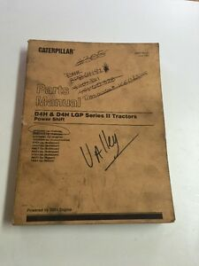 Cat Caterpillar D4h Lgp Crawler Tractor Dozer Parts Book Manual S n 8pb 9db