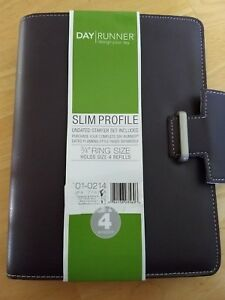 Day Runner Terramo Slim Profile 3 Ring Refillable Planner eggplant brand New