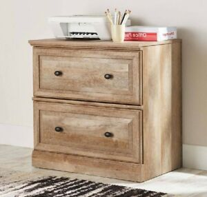 Wood Filing Cabinet Lateral 2 Drawer Home Office Legal Letter File Folder Study