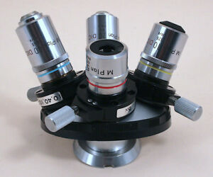 4 place Nikon Microscope Nomarski Dic Met Nosepiece With Prisms