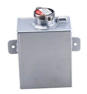 Universal 1 2l Aluminum Coolant Expansion Recovery Overflow Tank W cap Silv