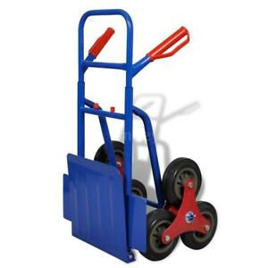 Foldable 6 Wheel Dolly Cart Hand Sack Truck Autotransport Blue red 330 7 Lb J4a6