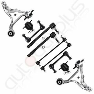 10pc Front Rear Suspension Kit Ball Joint Sway Bar For 2001 2007 Volvo S60