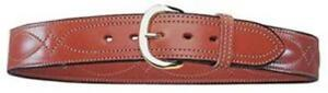 Bianchi 13724 B21 Contour Belt Tan Size 36 Brass Buckle Leather