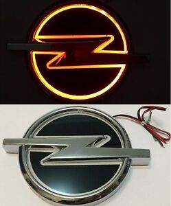 5d Led Car Tail Logo Red Light For Opel Emblems Auto Badge Light