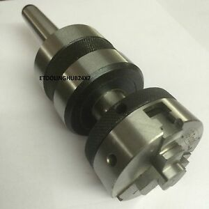 3 jaw X 2 Lathe Chuck On Live Ball Bearing Tailstock Center With Mt1 Arbor New