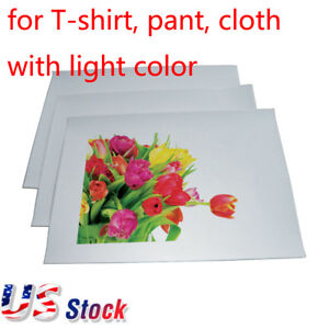 A4 T shirt Heat Transfer Paper For T shirt Pant Cloth With Light Color Us Stock