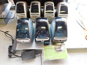 Lot Of 7 Dymo Labelwriters 1 450t 2 400 4 330 1 Power Supply 1 Softwar