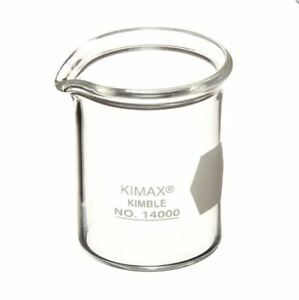 Kimble kimax Glass 150ml Graduated Low Form Griffin Beaker 12 Pack 14000 150