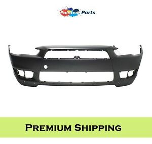 Fits Mitsubishi Lancer 2008 2015 New Front Bumper Painted To Match Mi1000319