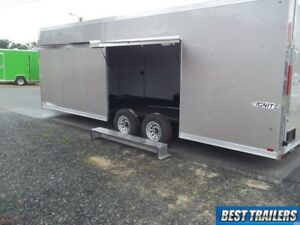 8 X 24 Race Ready Ultimate Escape Door Enclosed Finished Carhauler Trailer Cargo