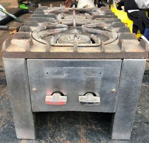 Double Burner Cast Iron Restaurant Industrial Gas Stove