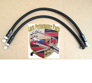 Porsche 86 89 951 944 Turbo Braided Fuel Lines 2 Pcs In Black