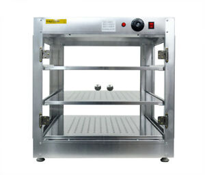 Commercial 24 x24 x24 Counter Top Food Pizza Pastry Warmer Wide Display Case P
