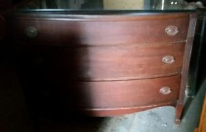 Vintage Dovetail Mahogany Dresser Chest Of Drawers