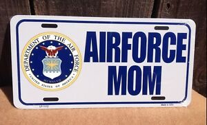 Air Force Mom Blue Wholesale Metal Novelty Wall Decor License Plate