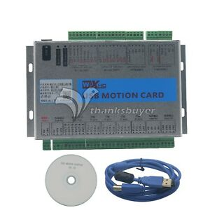Mach4 Cnc 4 Axis Motion Control Card Usb 2mhz Breakout Board For Machine Us Ship