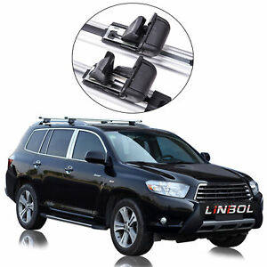 53 Universal Oe Style Suv Car Roof Top Cross Bar Aluminum Alloy Rack Adjustable