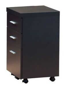 Monarch i 7013 Hollow core 3 drawer File Cabinet With Casters Cappuccino