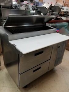 18648ptb Used Delfield 2 Drawer 48 Pizza Prep Includes Free Shipping