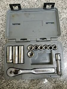 Craftsman 12 Piece 6 Point Metric Socket Set In Case A y