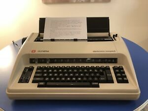 Olympia Electric Compact Typewriter W Cover Cleaned And Working Great