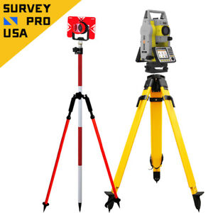 Geomax Zoom50 Accxess10 1 1000m Reflectorless Prism Total Station Package