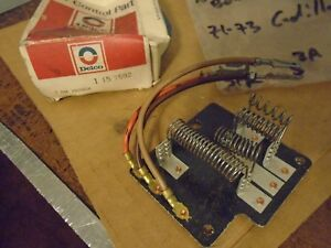 1971 1972 1973 Cadillac Blower Circuit Board Assembly Gm 7938836 15 7592