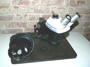 Bausch Lomb Stereo Zoom 4 Stereoscope Light Source Microscope Science