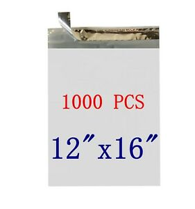1000 6 12x16 Poly Mailer Self Sealing Shipping Envelopes Waterproof Stmailers