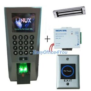 Fingerprint Access Control System power Supply magnetic Lock And Time Attendance