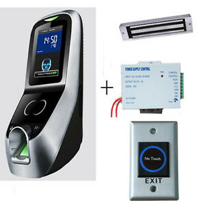 Facial fingerprint Access Control System Kit Psu magnetic Lock And Exit Button