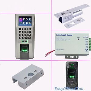 Fingerprint Access Control System Kit eletric Bolt Lock power Supply fr1200 Exit