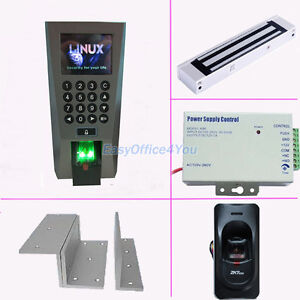 Full Access Control Kits For In out Biometric Fingerprint power Supply mag Lock