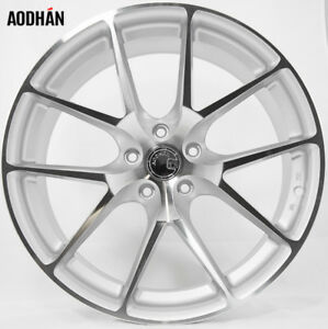 Aodhan Ls007 19x9 5 35 5x112 Silver Machined Concave Wheels Set Of 4