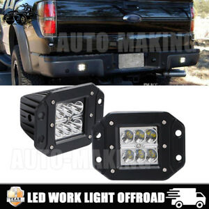 3inch Led Pods Work Fog Light Bar Cube Offroad Bumper Spot Flush Mount 2pcs